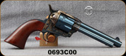 "Taylor's & Co - 357Mag - Gunfighter - Walnut Army Grips/Case Hardened Frame/Charcoal Blue Finish, 5.5""Barrel, Mfg# 0693C00"