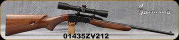 "Consign - Browning - 22LR - SA-22 - Walnut Stock/Engraved Receiver/Blued, 19""Barrel - c/w Simmons 22 Mag, 4x32 scope, Plex reticle - New"