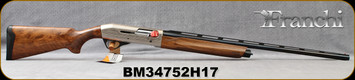 "Franchi - 20Ga/3""/28"" - Affinity 3 - 150th Anniversary - Semi-Auto Shotgun - AAA Grade Satin Walnut/Silver Engraved Reciever/Blued Barrel, 4+1 Capacity, (F,M,IC)Mfg# A0498000, S/N BM34752H17"