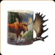 River's Edge - 3D Deluxe Ceramic Mug - Moose Scene - 15oz - 2433