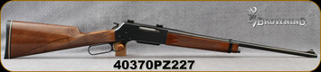 "Used - Browning - 22-250Rem - Model 81 BLR - Lever Action - Walnut Stock/Blued, 20""Barrel, c/w 1""Rings"