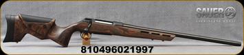 "Sauer - 6.5Creedmoor - S100 Fieldshoot - Bolt Action Rifle - Dark Oil Finish Laminate Stock w/Adjustable Cheek piece/Blued, Threaded 24""Varmint Match Cold Hammer Forged Barrel, 1:8""Twist, 5rd Detachable Box Magazine, Mfg# S1F65C"