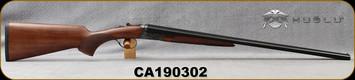 "Huglu - 28Ga/2.75""/26"" - Model 200A Mini - SxS Single Trigger - Turkish Walnut/Case Hardened Receiver/Blued, SKU# 8681744307277, S/N CA190302"