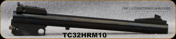 """Used - Thompson Center - 32H&RMag - Contender - Barrel Only - Blued Finish, 10""""Bull Barrel w/Sights (Prohibited if on a pistol frame) - In original box"""