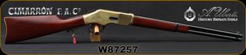 "Cimarron - Uberti - 32-20 - Model 1866 Golden Boy Carbine - Lever Action w/Saddle Ring - Walnut Stock/Brass Frame/Case Hardened Lever/Blued, 19""Round Barrel, 10rd Tubular Magazine, Mfg# CA216AS1, S/N W87257"