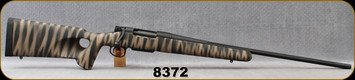 """Used - HS Precision - 270WSM - Pro Series 2000SA SPL - Black/Tan Synthetic Stock/Matte Black, 24""""Fluted Barrel, c/w Dies - Only 50 rounds fired - In Black Hard Plastic Case"""
