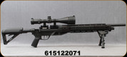 """Used - BenJamin - 22Cal - Armada BTAP22 - PCP Air Rifle Package - Black Synthetic Adjustable Stock/Black Finish, 26.5""""Barrel, c/w Bipod,  Crossfire 4-16x56 Scope, Mil-Dot Reticle, see description for further details"""