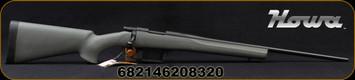 "Howa - 222Rem - M1500 - Bolt Action Rifle - HTI Green Synthetic/Black Finish, 22""Std #2Contour Barrel, 5 Round Detachable Magazine, Mfg# H222"