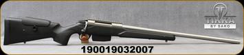 "Tikka - 308Win - T3x Super Varmint - Black Modular Stock w/Adjustable Cheek piece/Stainless, 23.7""Barrel, Picatinny rail, 5 round detachable magazine, Mfg# TFTT29XLP05"