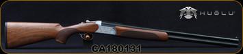 "Huglu - 12Ga/3""/26"" - 103C - O/U w/Extractors - Turkish Walnut/Silver Receiver w/gold inlay birds/Chrome-Lined Barrels, single trigger, 5pc. Mobile Choke, SKU# 8681715390222, S/N CA180131"