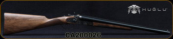 "Huglu - 12Ga/3""/20"" - 201HRZ - Hammer Gun - Grade II English Grip Turkish Walnut/Case Hardened Receiver/Chrome-Lined Barrels, Double Trigger, SKU# 8681744308946-2, S/N CA200026"