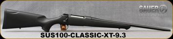 "Sauer - 9.3x62 - S100 Classic XT - Bolt Action Rifle - Black Synthetic ERGO MAX Stock/Blued, 22"" Barrel, 5 Round Detachable Magazine, Adjustable Trigger, Mfg# S1S936"