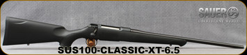 "Sauer - 6.5x55SE - S100 Classic XT - Bolt Action Rifle - Black Synthetic ERGO MAX Stock/Blued, 22"" Barrel, 5 Round Detachable Magazine, Adjustable Trigger, Mfg# S1S655"
