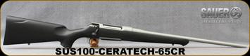 "Sauer - 6.5Creedmoor - S100 XT Ceratech -  Bolt Action Rifle - Black Polymer ERGO MAX Stock/Ice Grey Cerakote Finish, 22"" Barrel, 5 Round Detachable Magazine, Adjustable Trigger, Mfg# S1SX65C"
