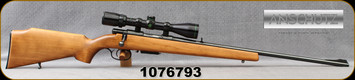 "Consign - Anschutz - 222Rem - Model 1530-1534 - Bolt Action Rifle - Walnut Stock/Blued, 23.5""Barrel, c/w Bushnell Buckhorn, 3-9x40, Plex Reticle - Low rounds fired"