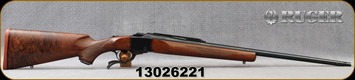 """Used - Ruger - 300WM - No.1-B Standard Rifle - Single Shot - Grade AAA Walnut/Blued, 26""""Ported barrel, c/w Bushnell Engage, 4-12x40mm, Deploy MOA Reticle - In non-original box"""
