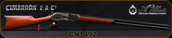 "Cimarron - Uberti - 45-75 - 1876 Centennial Rifle - Lever Action - Walnut Stock/Case Hardened Receiver/Blued, 28""Octagonal Barrel, Mfg# CA2501, S/N CN1492"
