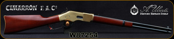 "Cimarron - Uberti - 32WCF (32-20) - Model 1866 Golden Boy Carbine - Lever Action w/Saddle Ring - Walnut Stock/Brass Frame/Case Hardened Lever/Blued, 19""Round Barrel, 10rd Tubular Magazine, Mfg# CA216AS1, S/N W87254"