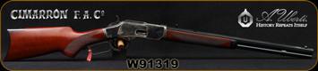 "Cimarron - Uberti - 32WCF (32-20) - Model 1873 Deluxe Short Rifle - Lever Action - Walnut Hand Checkered Pistol Grip Stock/Case Hardened Frame/Blue Finish, 20"" Octagonal Barrel, 10+1 Capacity, Mfg# CA215, S/N W91319"