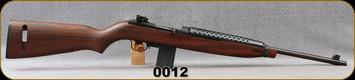 "Consign - PlainField Machine - 30Carbine - 30M1 Carbine - Semi-auto Carbine - Walnut Stock/Blued, 18""Barrel, c/w (1) 5/10 Magazine - Restricted"