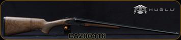 "Huglu - 410Ga/3""/26"" - 200AC Mini - SxS Single Trigger - Grade AA Turkish Walnut/Case Hardened Receiver w/Gr5 Hand Engraving/Chrome-Lined Barrels, Fixed Choke (F,IM) SKU# 8681715398280-2, S/N CA200416"