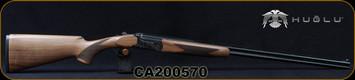 "Huglu - 410Ga/3""/28"" - 103DE Mini - O/U w/Ejectors - Grade A Turkish Walnut Stock w/Schnabel Forend/Hand Engraved Case Coloured Receiver/Chrome-Lined Barrels, Fixed choke (F,IM) SKU# 8682109405058, S/N CA200570"