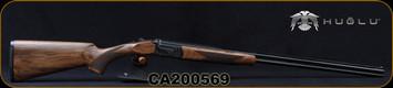 "Huglu - 410Ga/3""/28"" - 103DE Mini - O/U w/Ejectors - Grade AA Turkish Walnut Stock w/Schnabel Forend/Hand Engraved Case Coloured Receiver/Chrome-Lined Barrels, Fixed choke (F,IM) SKU# 8682109405058-2, S/N CA200569"