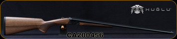 "Huglu - 410Ga/3""/28"" -200A Mini - SxS Single Trigger - Grade AA Turkish Walnut English Grip Stock/Case Hardened Hand Engraved Receiver/Chrome-Lined Barrels, Fixed Choke (F,IM) Sku: 8682109404969-2, S/N CA200456"