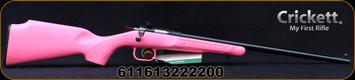 "Crickett - 22LR - Single Shot Rifle Package - Pink Synthetic Stock/Blued Finish, 16.25""Barrel, with 4x32 Quick Focus RIfleScope, Mfg# KSA2220PKG"