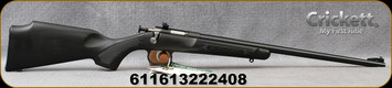 """Crickett - 22LR - Single Shot Rifle Package - Black Synthetic Stock/Blued Finish, 16.25""""Barrel, with 4x32 Quick Focus RIfleScope"""
