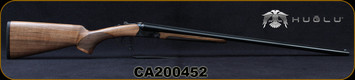 "Huglu - 28Ga/3""/28"" - 200A Mini - SxS Single Trigger - Grade AA Turkish Walnut/Case Hardened Receiver/Chrome-Lined  Barrels, 5pc. Mobile Choke, SKU# 8682109404952-2, S/N CA200452"