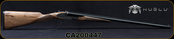 "Huglu - 12Ga/3""/28"" - 200ACE - SxS Single Trigger - Ejectors - Grade AA Turkish Walnut English Grip Stock/Case Hardened Receiver w/Gr5 Hand Engraving/Chrome-Lined Barrels, 5pc. Mobile Choke, SKU# 8682109405355-2, S/N CA200447"