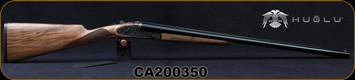 "Huglu - 12Ga/3""/28"" - Model 200AC - SxS Single Trigger - Grade AA Turkish Walnut/Case Hardened Grade V Hand Engraved Receiver/Chrome-lined barrels, 5pc.Mobile Choke, Sku: 8681715397078-2, S/N CA200350"