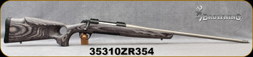 """Consign - Browning - 30-06Sprg - X-Bolt Eclipse Hunter - Grey Laminate Monte Carlo Thumbhole Stock/Matte Blue Receiver/Stainless, 24""""Threaded Barrel, muzzle brake - only 10 rounds fired - In original box"""