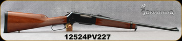 """Consign - Browning - 308Win - Model 81 BLR - Lever Action - Walnut Straight-Grip Stock/Blued, 20""""Barrel, only 40 rounds fired"""