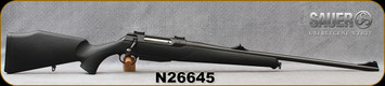 "Consign - Sauer - 300WM - Model 202 - Black Synthetic/Blued, 24.5""Barrel, c/w Talley Bases - only 50 rounds fired"