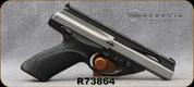 "Used - Beretta - 22LR - Model U22 Neos - Black Modular Grips/Inox, 4.5""Barrel, 2 stainless magazines - In original case"