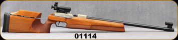 """Used - Walther - 22LR - UIT-BV Universal - Adjustable Benchrest Stock/Blued, 25.5""""Barrel, Electronic Trigger, ISSF/UIT Designation, c/w Walther Micro Meter sights"""