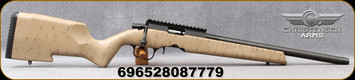 """Christensen Arms - 22LR - Ranger 22 - Tan/w Black Web Carbon Fiber Composite Rimfire Stock/Black Anodized, 18""""Christensen Arms Carbon Fiber Tension Rimfire Barrel, 22LR Bentz Match Chamber, Compatible w/Ruger 10/22 Mags(1 included). Mfg# 801-12001-00"""