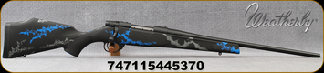 """Weatherby - 308Win - Vanguard Synthetic Compact Blue - Black Base Composite Stock w/Blue & Grey Accents/Blued, 20""""#1 contour barrel, 5+1 Hinged Floorplate, Mfg# VYB308NR0O"""