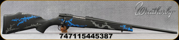 """Weatherby - 7mm-08Rem - Vanguard Synthetic Compact Blue - Black Base Composite Stock w/Blue & Grey Accents/Blued, 20""""#1 contour barrel, 5+1 Hinged Floorplate, Mfg# VYB7M8RR0O"""