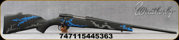 """Weatherby - 6.5Creedmoor - Vanguard Synthetic Compact Blue - Black Base Composite Stock w/Blue & Grey Accents/Blued, 20""""#1 contour barrel, 4+1 Hinged Floorplate, Mfg# VYB65CMR0O"""