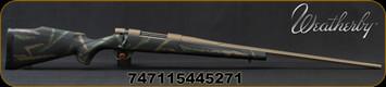 "Weatherby - 257WbyMag - Vanguard High Country - Black w/Tan & Green Accents Synthetic Stock/Flat Dark Earth Cerakote, 26""Threaded Barrel(28""w/Accubrake), Mfg# VHC257WR8B"