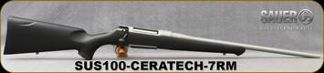 "Sauer - 7mmRemMag - S100 XT Ceratech -  Bolt Action Rifle - Black Polymer ERGO MAX Stock/Ice Grey Cerakote Finish, 22"" Barrel, 5 Round Detachable Magazine, Adjustable Trigger"