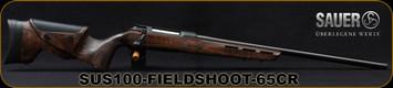 "Sauer - 6.5Creedmoor - S100 Fieldshoot - Bolt Action Rifle - Dark Oil Finish Laminate Stock w/Adjustable Cheek piece/Blued, Threaded 24.4""Varmint Match Cold Hammer Forged Barrel, 1:8""Twist, 4rd Detachable Box Magazine"
