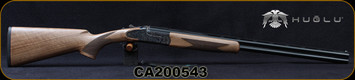 "Huglu - 28Ga/3""/26"" - 103FE - O/U w/Ejectors - Grade AA Turkish Walnut w/Schnabel Forend/Case Hardened Receiver w/ Gr5 Hand engraving/Chrome-Lined Barrels, SKU# 8682109405379-2, S/N CA200543"