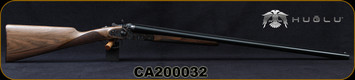 "Huglu - 12Ga/3""/30"" - 201HRZ - SxS Double Trigger - Grade AA Turkish Walnut English Stock/Case Hardened Sidelock Receiver/Gloss Black Chrome/Chrome-Lined Barrels, 5pc. Mobile Chokes, SKU# 8681744308939-2, S/N CA200032"