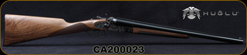 "Huglu - 12Ga/3""/20"" - 201HRZ - SxS Hammer Gun - Grade AA English Grip Turkish Walnut/Case Hardened Receiver/Chrome-Lined Barrels, Double Trigger, SKU# 8681744308946-2, S/N CA200023 - Scuff on right barrel finish"