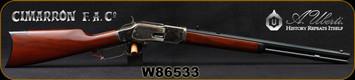 "Cimarron - Uberti - 32WCF - Model 1873 Short Rifle - Lever Action Rifle - Walnut Stock/Forearm/Case Hardened Frame/Blued Finish, 20"" Octagon Barrel, 10 Round Capacity, Mfg# CA293, S/N W86533"