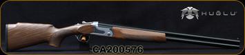 "Huglu - 12Ga/3""/26 - S12E - Ladies/Youth O/U - Grade 2 Turkish Walnut Monte Carlo Stock/Silver Receiver/Chrome-lined, 8mm vent rib barrels, 5pcs. Mobile Choke, SKU# 8681715390833MC, S/N CA200576"
